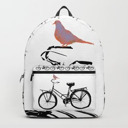 Baker's bicycle with bird Backpack