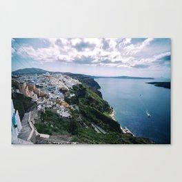 Santorini caldera Canvas Print