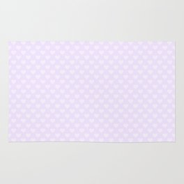 Large Hearts on soft Lilac Pastel Color Rug