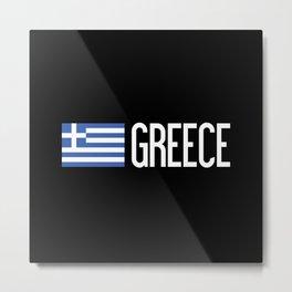 Greece: Greek Flag & Greece Metal Print