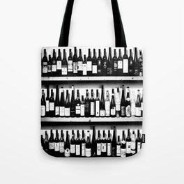 Wine Bottles in Black And White #society6 #decor Tote Bag