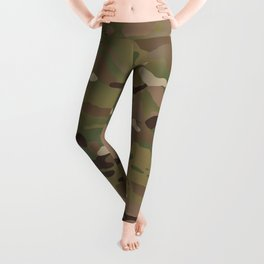 Military Woodland Camouflage Pattern Leggings