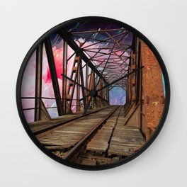 Bridge To Another World Wall Clock