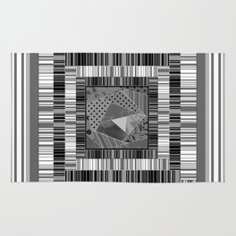 Abstract pattern . Patchwork striped . Rug