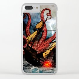 In the Grasp of the Storm Clear iPhone Case