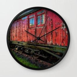 Old Train Wagon Wall Clock