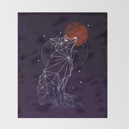 Fox in the Stars Throw Blanket