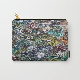 Abstract Psychedelic Geometric Eyes Painting Carry-All Pouch