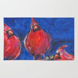 Cardinals and Hibiscus Rug
