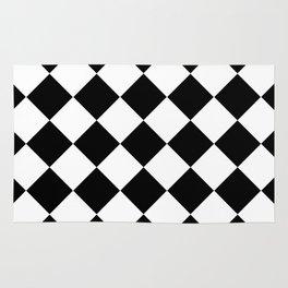 Diamond Black & White Rug