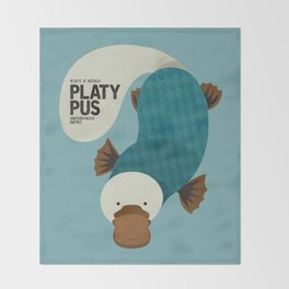 Hello Platypus Throw Blanket