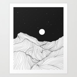 Lines in the mountains II Art Print