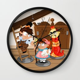 the shepherdess and the chimney sweep Wall Clock