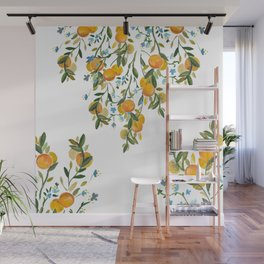 A Bit of Spring and Sushine Trailing Oranges Wall Mural