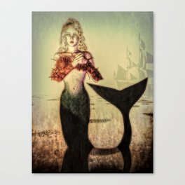 The Lonely Mermaid Canvas Print