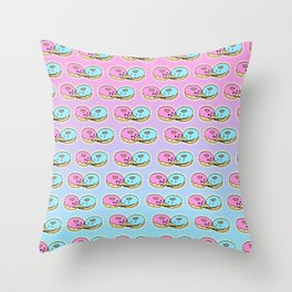 Give me a hug donut Throw Pillow