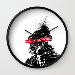 Riot Control Wall Clock