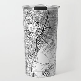 Tokyo White Map Travel Mug