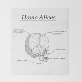Homo Aliens Throw Blanket