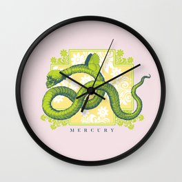 Crucified Serpent Wall Clock