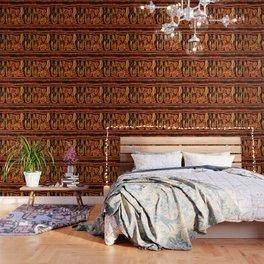 Antik motif with fire Wallpaper