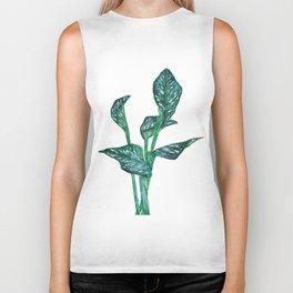green calla lily Biker Tank