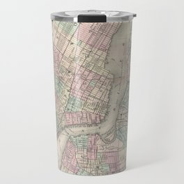 Vintage Map of NYC and Brooklyn (1865) Travel Mug