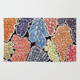 Grapes for wine lovers, gastronomy and restaurants Rug