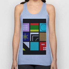 Eclectic 1 - Random collage of 9 bold colourful patterns in an abstract style Unisex Tank Top