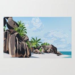 Tropical Beach Rug