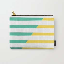 Beach Stripes Green Yellow Carry-All Pouch