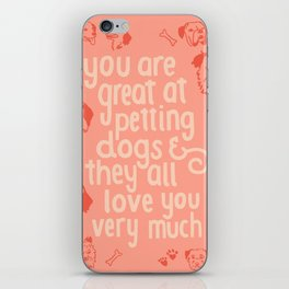 The Best Compliment (peach) iPhone Skin