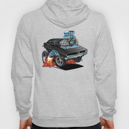 Classic 69 American Muscle Car Cartoon Hoody