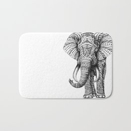 Ornate Elephant Bath Mat