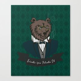 Clever Bear Canvas Print