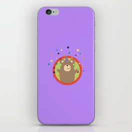 Party Bear with Spots in cirlce iPhone Skin