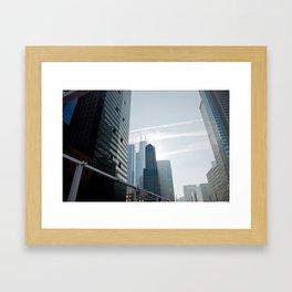 Riverside view of Chicago Framed Art Print