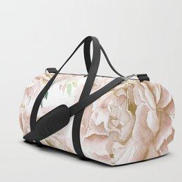 Pretty Blush Pink Roses Flower Garden Duffle Bag