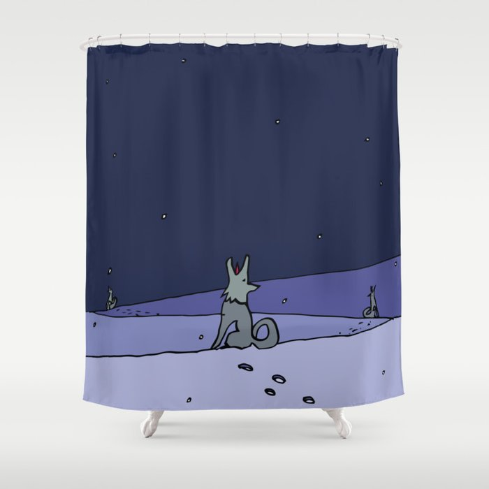 Three Dog Night - Winter Shower Curtain