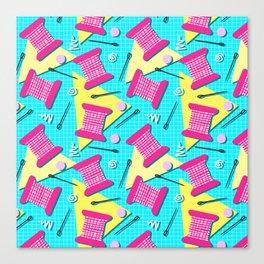 Memphis Sewing - Brights Canvas Print