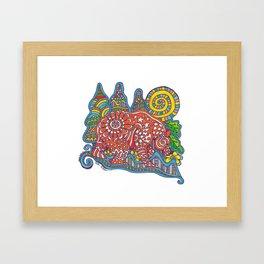 Zentangle Bear Framed Art Print