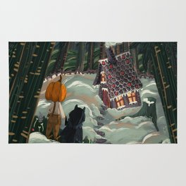 the witch in the gingerbreadhouse Rug