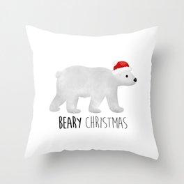 Beary Christmas | Polar Bear Throw Pillow