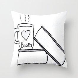 Books & Tea Throw Pillow