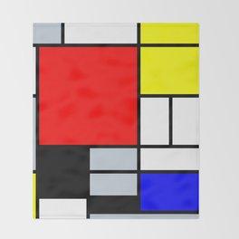 Mondrian Throw Blanket