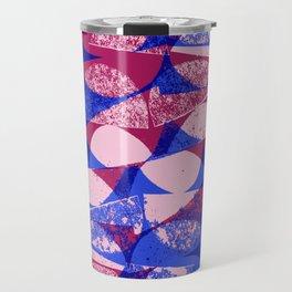 Pink and Blue semi circles - Sarah Bagshaw Travel Mug