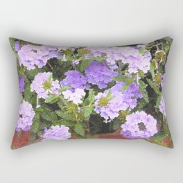 Vebena in Purple Rectangular Pillow