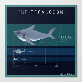 The Megalodon Canvas Print