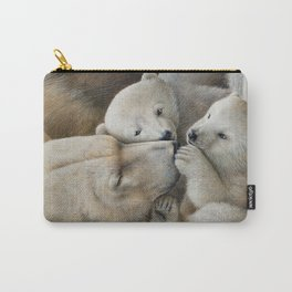 """Nanuk family"" Polar bear by Claude Thivierge Carry-All Pouch"