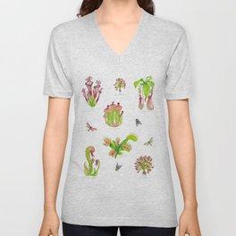 Carnivorous Plants Unisex V-Neck